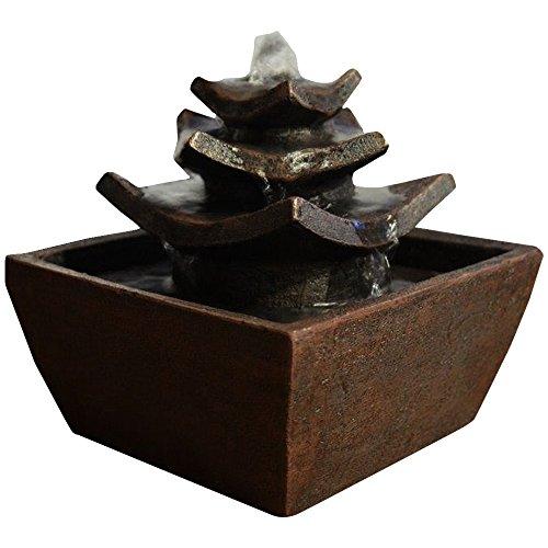 Zen luce tempio interni fontaine moro 16,5 x 16,5 x 15,5 cm