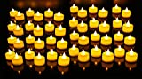 #5: Ein Sof Flameless LED Tealights, Smokeless Plastic Decorative Candles (Yellow Light, Pack of 20)