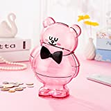 Girlwill Fair Lady Crystal Clear Piggy Bank Pink For Adults