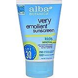 Best Alba Botanica Kids Sunscreens - Mineral Sunscreen Kids SPF30 - 4 oz Review