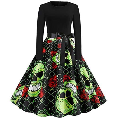 Hausfrau 50er Jahre Kostüm - Damen Halloween Mode Kleider 50er Jahre