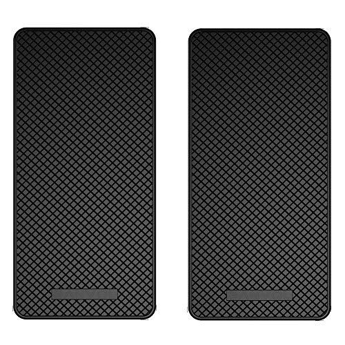 Ganvol (2 pezzi tappetino auto cruscotto anti-scivolo [stretta tremendamente forte], anti-slittamento di stuoia, non scivolosa del cuscinetto, antiscivolo mat (13.5 cm x 7 cm)