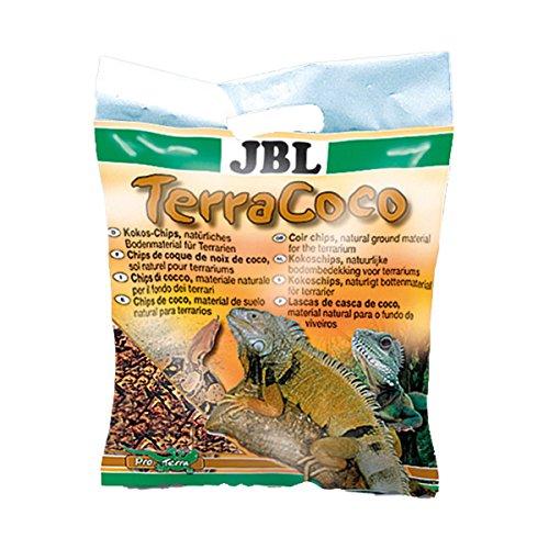 JBL TerraCoco 71015 Bodengrund für alle Terrarientypen, Kokoschips, 5 l