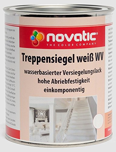 novatic Treppensiegel wasserverdünnbar - weiß - 750ml