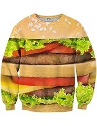 Mr. Gugu & Miss Go ® ⋅ Hamburger Suéter ⋅ 3D ⋅ Unisex ⋅ Fullprint ⋅ Impreso ⋅ Multicolor ⋅ Primavera ⋅ Verano ⋅ 2017 ⋅