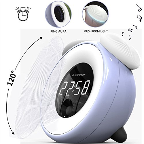 Actim Pilz Licht Wecker Touchscreen Body Sensing Snooze Elektronische Alarm Clock