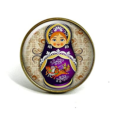 Bague • matriochka - poupée russe • dôme de verre 20mm