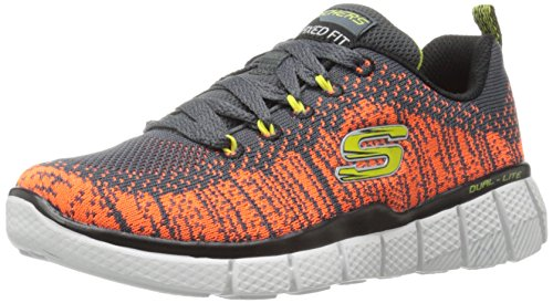 Skechers Mädchen Equalizer 2.0-Perfect Game Sneaker, Grau - Gris (Ccor Gris/Orange), 33 EU / 13.5 UK