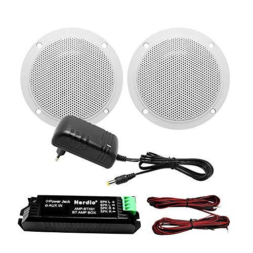 Herdio Kit de Altavoces de Techo Bluetooth de 4 Pulgadas Amplificador Bluetooth,...