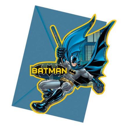 Preisvergleich Produktbild 6x Batman-Karte, Cut-Out, Party-Einladungen, inkl. Umschläge
