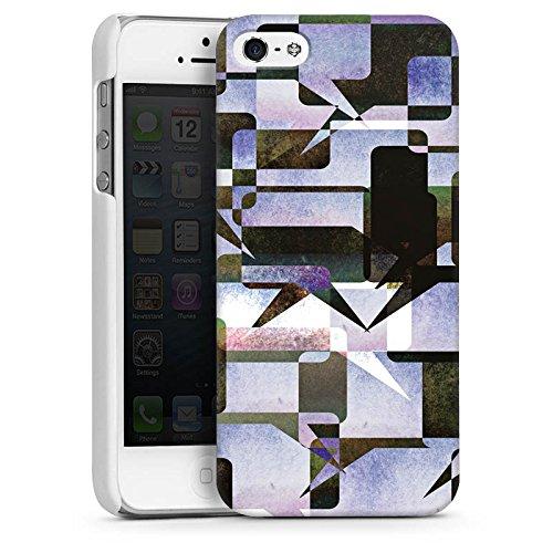 Apple iPhone 5 Housse étui coque protection Graphique Graphique Collage CasDur blanc