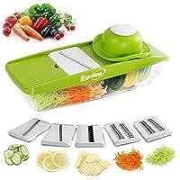 Syolee Mandolin Vegetable Slicer - 9 in 1 Multi-function Slicer,Green