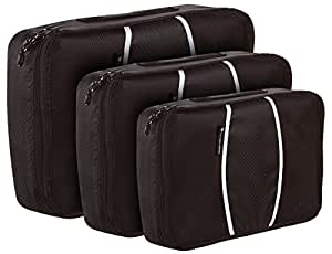 Just Pure Hut Travel Packing Cubes - Luggage Accessories - Set of 3 Value Hand Carry On Organisers – Camping & Backpacking Organizer Sets - Plus BONUS Travel Checklist - Plus BONUS Air Travel Tips