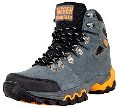 GUGGEN Mountain M008v2 Herren Bergschuhe Wanderschuhe Wanderstiefel Outdoor Schuhe Trekkingschuhe, Grau, EU 42