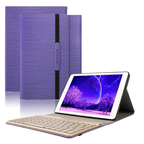 Dingrich Ipad 2 3 4 Tastatur Hülle, ipad 2 3 4 Case mit 7 Farben hinterleuchtet abnehmbare Wireless Bluetooth Tastatur und Automatische Schlaf/ Aufwecken Funktion, für Ipad 2 3 4 - Mit Fall Tastatur 4 Ipad