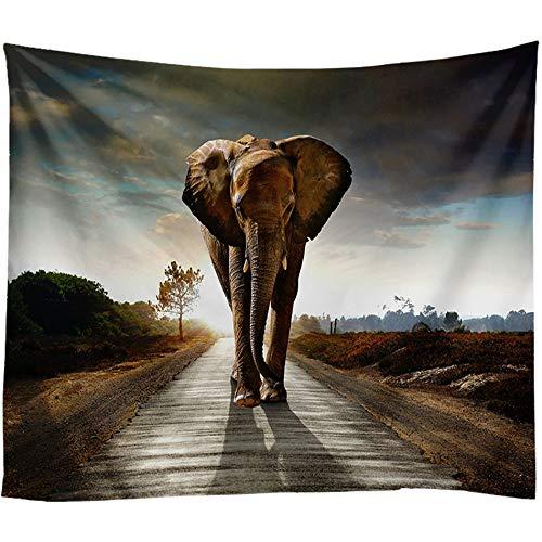XIAOBAOZIGT Tapicería Colgado De Alfombras Elefantes En El Camino Esterilla De Yoga...