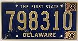 USA Nummernschild DELAWARE ~ US Kennzeichen LICENSE PLATE ~ Blechschild