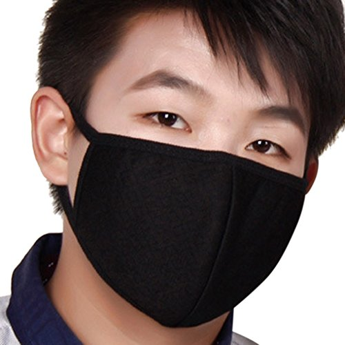 3×Masques Extérieur Anti-poussière et Anti-haze PM2.5 Mince Respirant Anti-Bactérienne Masque Soins de Santé Earloop Bouche Visage Masque de Protection Respiratoire chaud pour Moto Vélo Ski