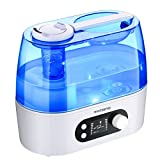 VICTSING 3L Cool Mist Humidifier with Smart Humidity Monitor & Timer, LCD Screen