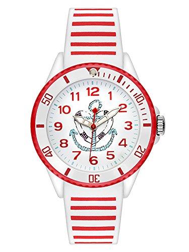 s.Oliver Mädchen Analog Quarz Uhr mit Silikon Armband SO-3496-PQ