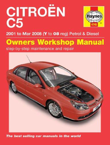 Citroen C5Haynes Reparatur Handbuch Haynes Handbuch Werkstatt Service manuell 2001–2008