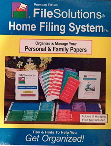 Premium Edition File Solutions Home Filing System