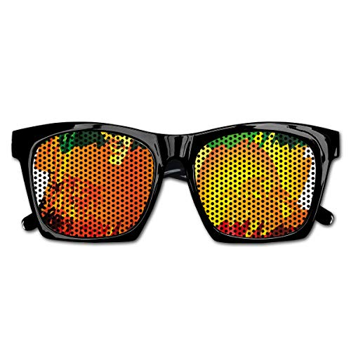 EELKKO Mesh Sunglasses Sports Polarized, Iconic Reggae Music Singer Abstract Design with Sun and Palm Trees,Fun Props Party Favors Gift Unisex