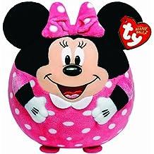 Ty - Bola de peluche con diseño de Minnie Mouse y sonido, 23 cm, color negro y rosa (United Labels 58202TY)