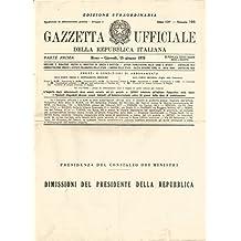 Gazzetta ufficiale della Repubblica italiana. Numero 166 (1978). Edizione straordinaria. Dimissioni del Presidente della Repubblica