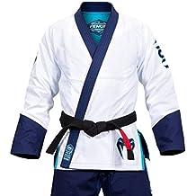 Venum Koi japoneses Absolute–Kimono de jiu jitsu hombre, Koï Absolute, Blanc/Bleu Marine