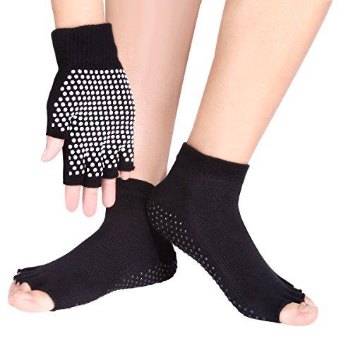 Eggsnow-Presa traspirante Yoga-Set calzini e guanti, antiscivolo in Silicone con