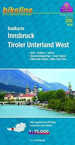 Innsbruck - Tiroler Unterland West Cycle Map 2014