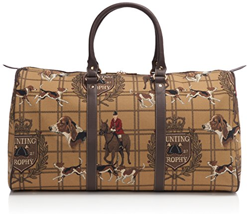 Signare grand fourre-tout bagage weekender en toile tapisserie mode femme Chasse