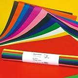 Ursus 4662299 - Blumenseide 50x70cm 20g/qm 125 Bogen 12 Farben