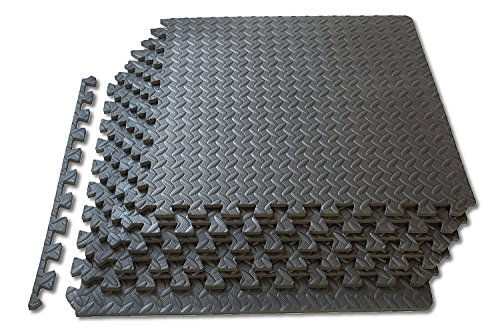 Tapis interconnectables EVA Foam tapis de gymnastique Interlocking Floor Mat 60 cm x 60 cm x 10 mm x 8 pièces 2.96 Sq Mts: