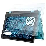 Bruni Schutzfolie für Acer Spin 1 SP111-31 11,6 inch Folie, glasklare Bildschirmschutzfolie (2X)