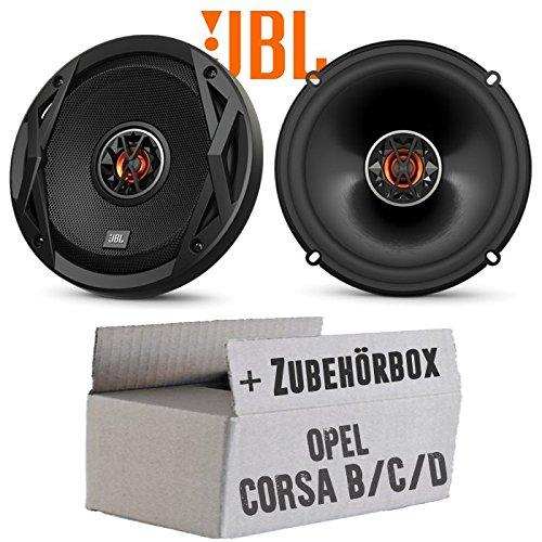 Opel Corsa B/C/D - Lautsprecher Boxen JBL Club 6522 | 2-Wege | 16cm Koax Auto Einbauzubehör - Einbauset