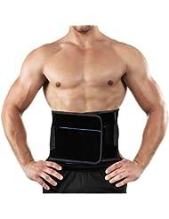 Ajustable Faja Lumbar Hombre/ Mujer, AGPTEK Cinturón de protección, Reduce el dolor de espalda y apoya la musculatura central, Talla XL