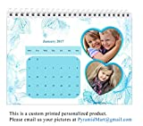 PyramidMart Customized 2018 Desk Calendar - 6in x 8in - Personalize With Your Own 24 Pictures (2 pic per page) - Spiral Bound At Top - DCAL68-H25