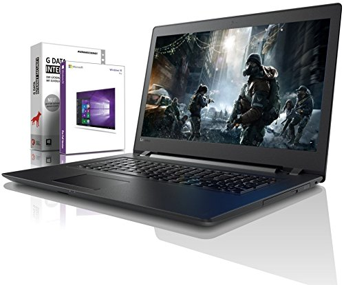 Lenovo (17,3 Zoll) Notebook (Intel Pentium 5405U 4-Thread CPU, 2.30 GHz, 8GB DDR4 RAM, 128GB SSD, 1000GB HDD, DVD±RW, Intel HD 610, HDMI, Webcam, Bluetooth, USB3.0, WLAN, Win 10 Prof. 64 Bit) #6138 -