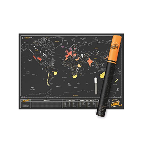 Luckies of london scratch map chalk edition personalised world map luckies of london scratch map chalk edition personalised world map poster with chalkboard pen travel gift buy online in oman gumiabroncs Image collections