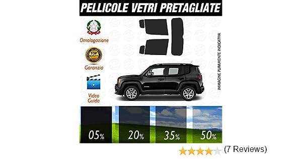 Jeep Renegade dal 2014 ad OGGI Pellicole Oscuramento Vetri Auto Pre Tagliate a Misura 20/%