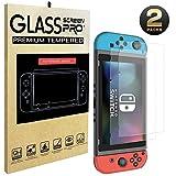 Nintendo Switch Schutzfolie Glas, (0.22mm) SHareconn Glas Displayschutzfolie für Nintendo Switch 2017 [Glatt mit Docking] kein Schmelze / 2.5D / 9H Härte / Blase frei / einfache Installation (2er Pack)