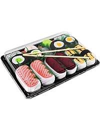Sushi Socks Box 5 pares de CALCETINES: Salmón, Tamago, Atún, Maki de Pepino y Oshinko - REGALO DIVERTIDO, Algodón de alta Calidad|para Mujer y Hombre, Certificado de OEKO-TEX, Fabricado en EU