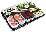 Rainbow Socks - Mujer Hombre Calcetines Sushi Salmón Tamago Atún 2x Maki - 5 Pares - Tamaño UE 41-46