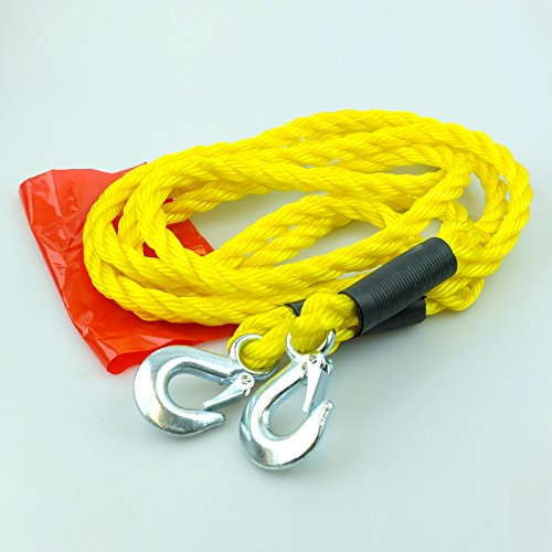 Heavy Duty Forged Hooks with Safety Catch 5000 Kgs Rolling Load Handy Carry Storage Bag Gadget Zone UK/® Hi Visibility Heavy Duty 4m Tow Rope