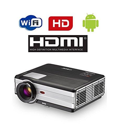 Mini Smart Android DLP Projecteur 3d, HD Wireless LED Projecteur de...