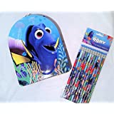 New Dory Tin Carrier With 12 Colorful Dory Pencils