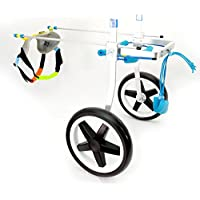 Teabelle - Silla de Ruedas Ajustable para Perro, para rehabilitación de piernas para Perros pequeños
