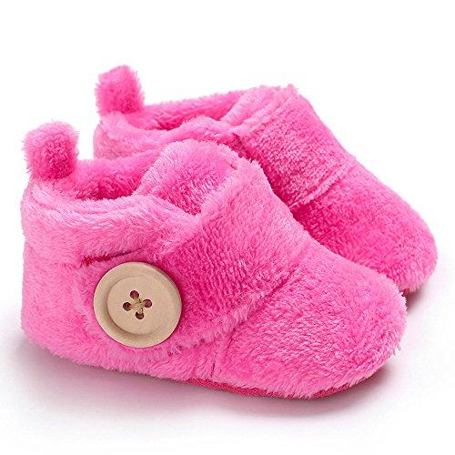 Quaan Schön Kleinkind Zuerst Wanderer Baby Schuhe Runden Zehe Wohnungen Weich gemütlich warm...